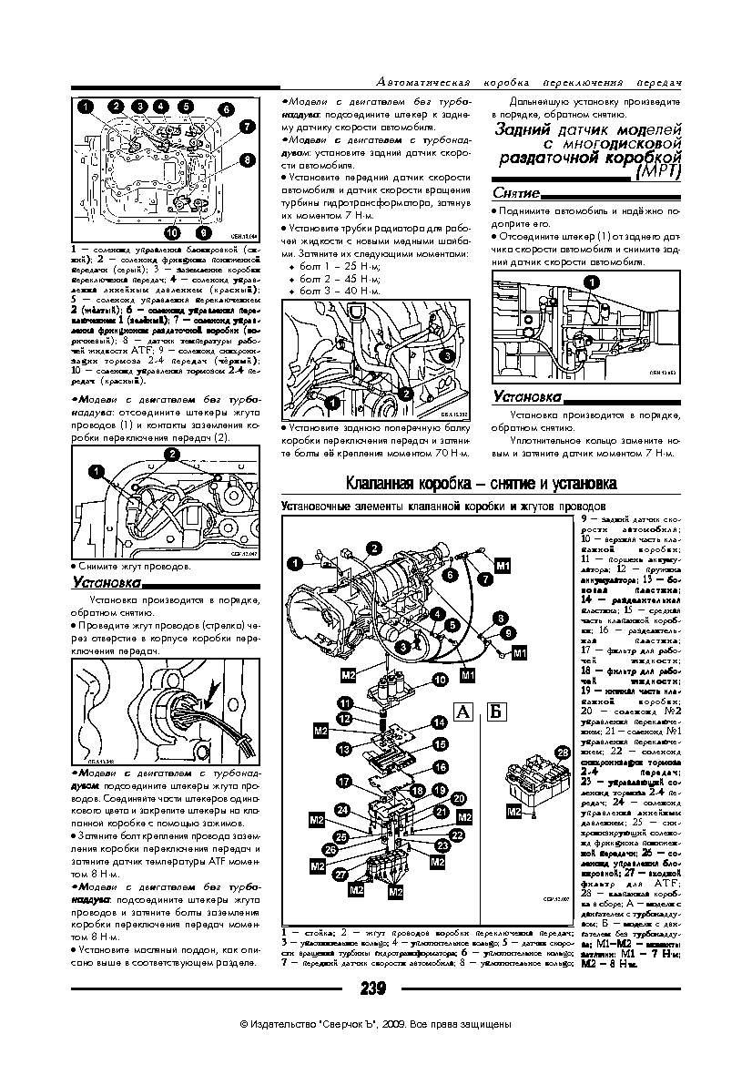 Subaru Impreza - ремонт автоматической коробки передач